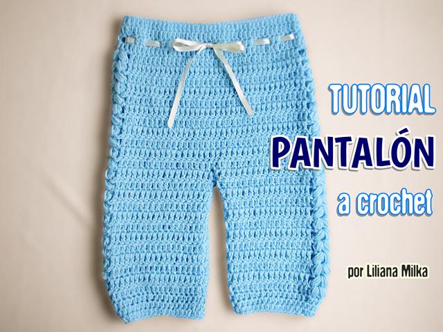 pantalón bebe – Paso a Paso Crochet