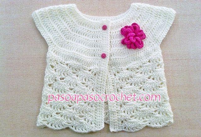 Talles Chaleco niña – Paso a Paso Crochet