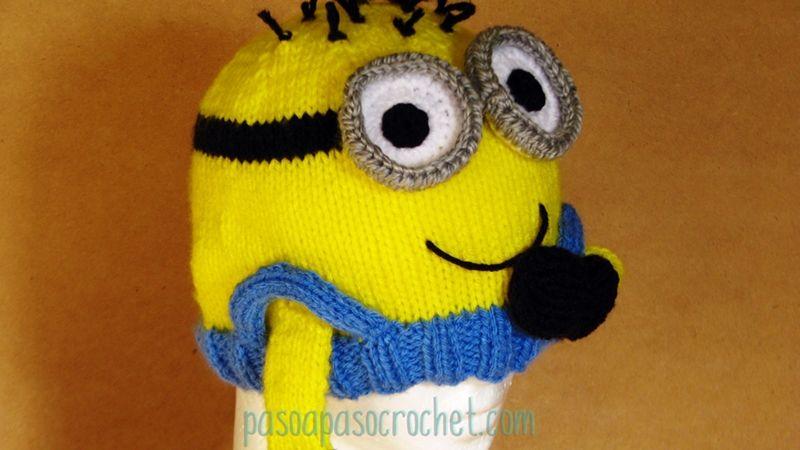 Talles gorro Minions – Paso a Paso Crochet