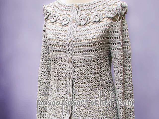 Saquito y chaleco de verano (Talles adulto) – Paso a Paso Crochet