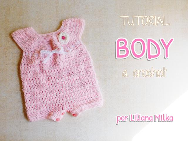 Body o enterito a crochet UNISEX – Paso a Paso Crochet
