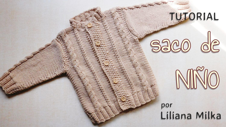 Campera para niños (dos agujas o palitos) – Paso a Paso Crochet