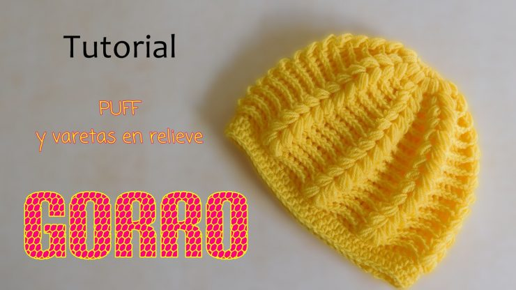 Gorro en punto puff y varetas en relieve (varios talles) – Paso a ... 08bfa47142a