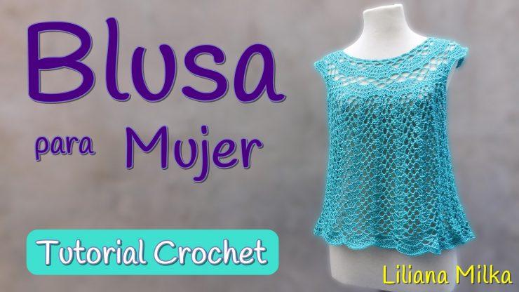 4db8a6ee6 Patron: blusa para mujer – Paso a Paso Crochet