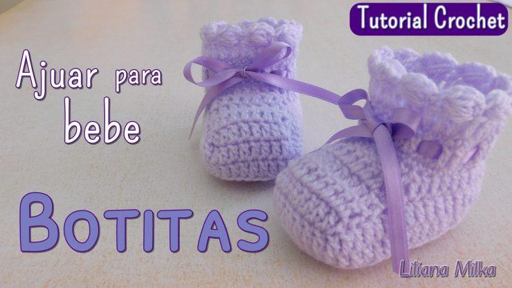 Ajuar Espuma de mar: Botitas o escarpines a crochet – Paso a Paso ...