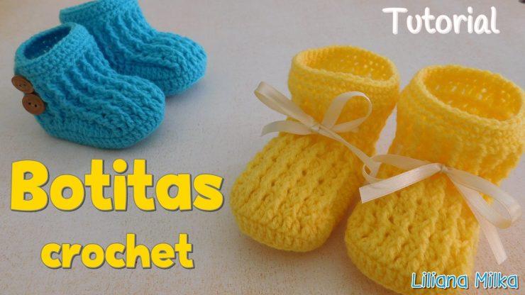 Ajuar Unisex: botitas o escarpines – Paso a Paso Crochet