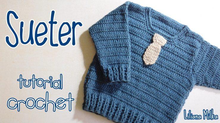 Sueter para niños con corbata – Paso a Paso Crochet