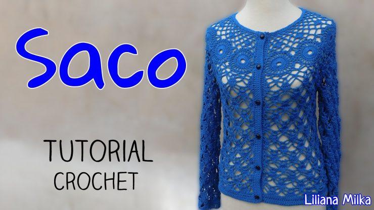 Como tejer un sueter o saco a crochet – Paso a Paso Crochet