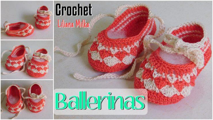 Ballerinas a crochet – ganchillo para bebes – Paso a Paso Crochet