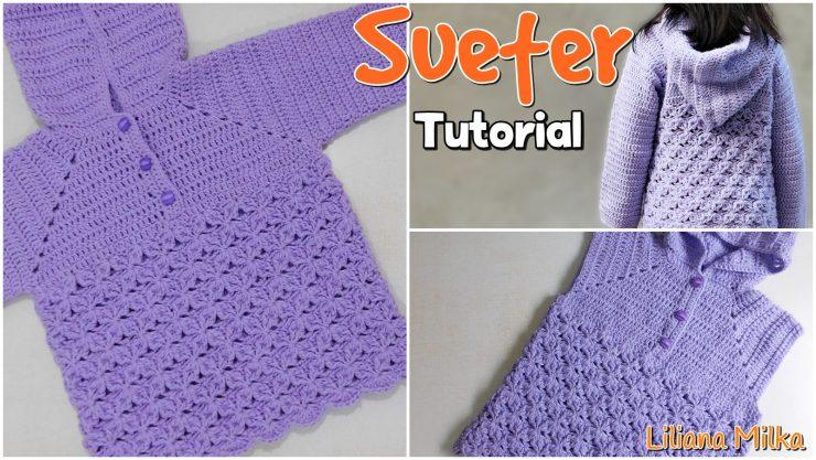 Pullover niña a crochet – Paso a Paso Crochet
