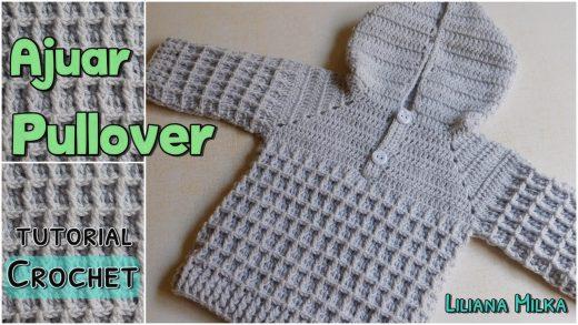 897ab53d4 Pullover con capucha para bebes y niños pequeños