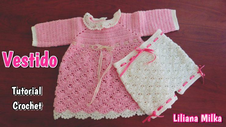 523ee27ed Vestido bebe para invierno – Paso a Paso Crochet