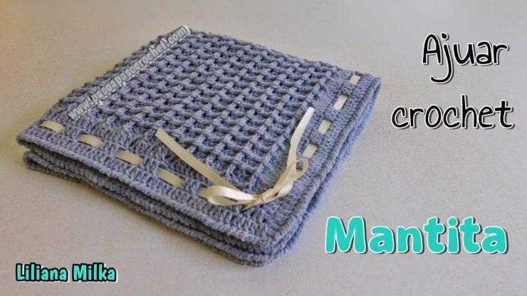 Ajuar crochet: mantita o cobija – Paso a Paso Crochet