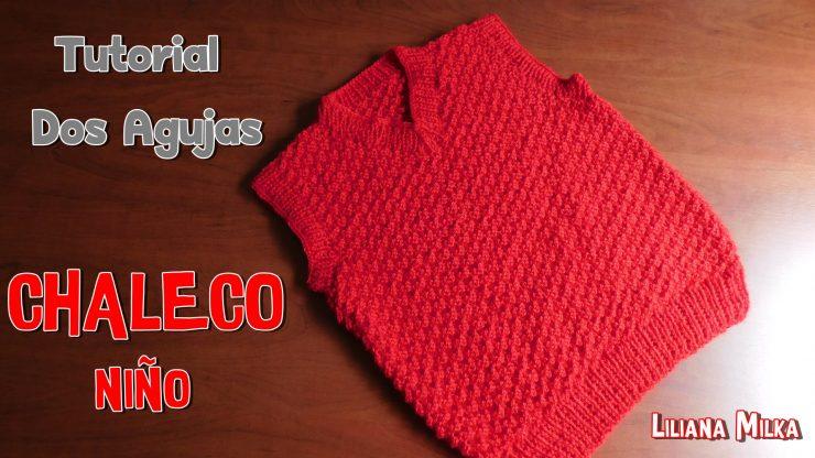 Chaleco para niño en dos agujas – Paso a Paso Crochet