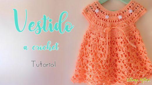 Vestido Tejido A Crochet 1 Y 3 Años Paso A Paso Crochet